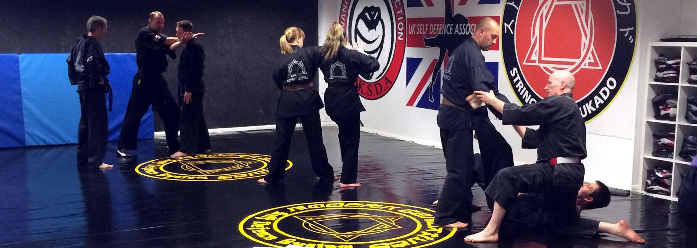 Senior class in small dojo