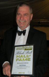Gary Stringer receiving MAI Black Belt Hall of Fame Award